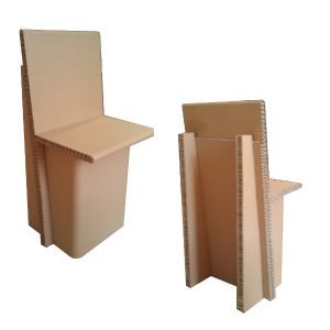 chaise en carton recycl. Black Bedroom Furniture Sets. Home Design Ideas
